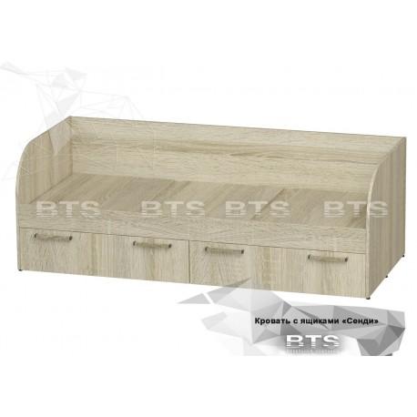 """Кровать """"Сенди"""" КР-01 с ящиками"""