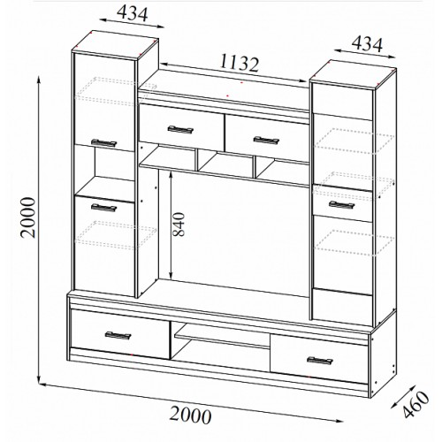 Шкаф для одежды Камелия-3