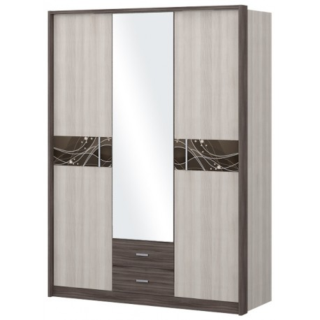 """Шкаф 3-х дверный """"НИКОЛЬ"""" с зеркалом"""