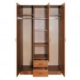 Шкаф 3-х дв с 2 ящиками с зеркалом МЭДИСОН