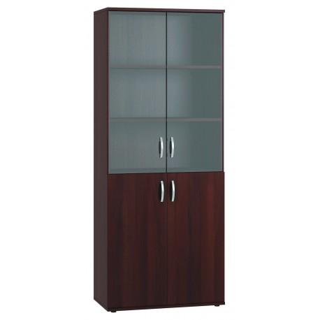 """Шкаф 2-х дверный """"ГЕРМЕС"""" со стеклянной дверцей"""