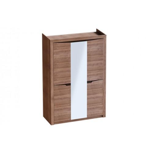 Шкаф плательный РОНДО-3 венге/клен