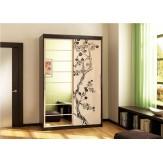 Шкаф-стеллаж с дверкой и ящиками СИТИ 6-9414