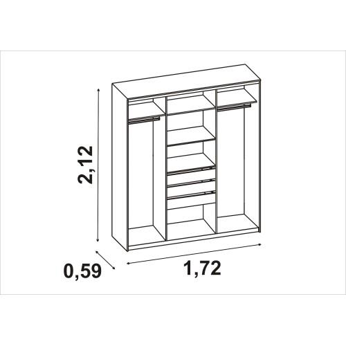 Шкаф-пенал СИТИ 6-9412