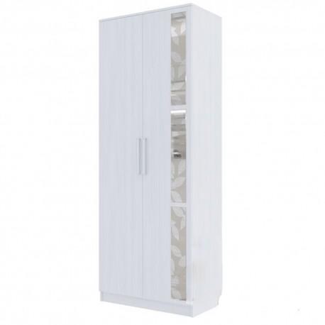 Николь1 Шкаф 2-х дверный комбинированный Ясень Анкор светлый