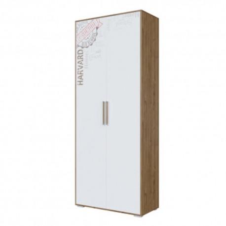 Шкаф 2-х дверный комбинированный Гарвард