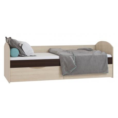 Кровать с ящ.800 ЕВА Дуб Сонома/Венге Кр87