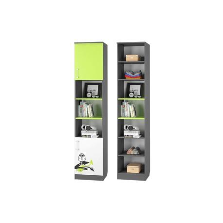 Шкаф для книг ГРАФФИТИ с 2мя дверками