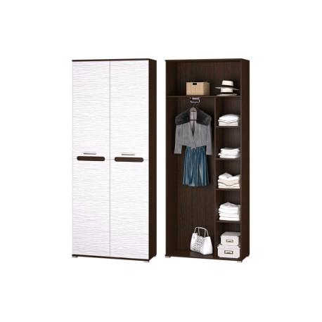 Прихожая МИШЕЛЬ Шкаф 2-х дверный венге/белый страйп