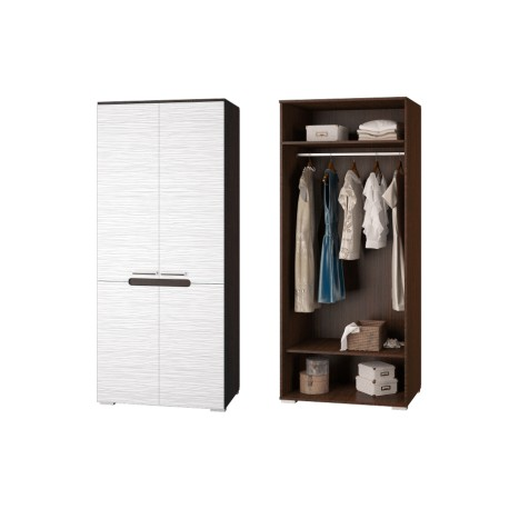 Шкаф для одежды ВИКА Венге/белый страйп
