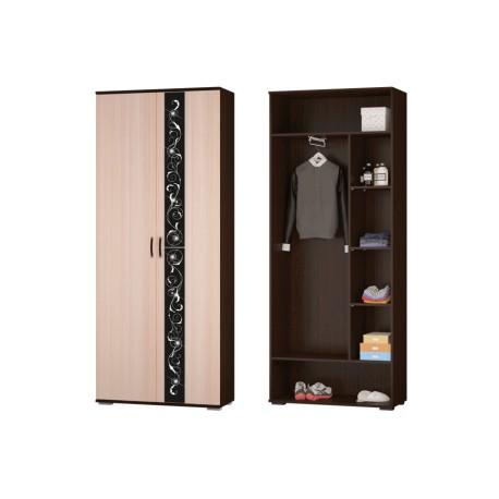 Шкаф для платья и белья с выдвижной штангой АДАЖИО