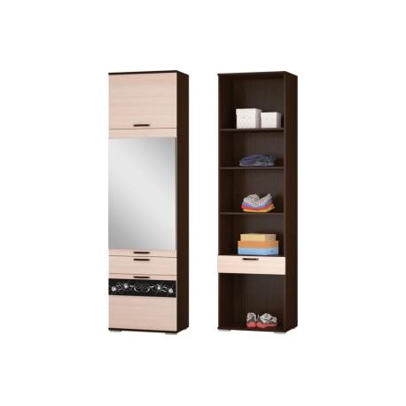 Шкаф-пенал с ящиком и дверками АДАЖИО