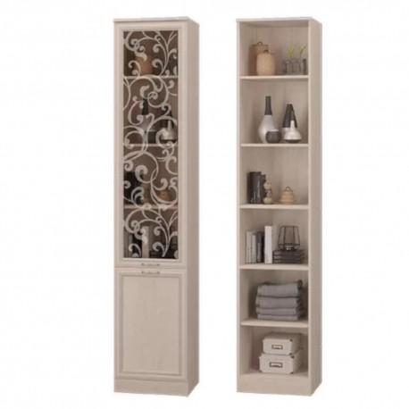 """Шкаф для книг со стеклянной дверкой """"ВЕРОНА"""""""