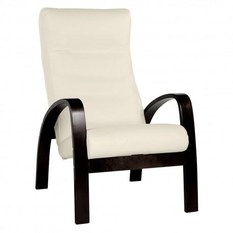 """Кресло """"Ладога"""" ткань Слоновая кость, каркас Венге"""