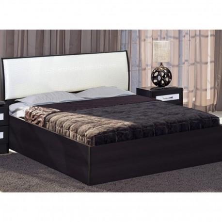 Кровать КЭТ-1 Caiman 1400х2000 ВенгеLinum/Белый с подъемн.мех., б/матраса